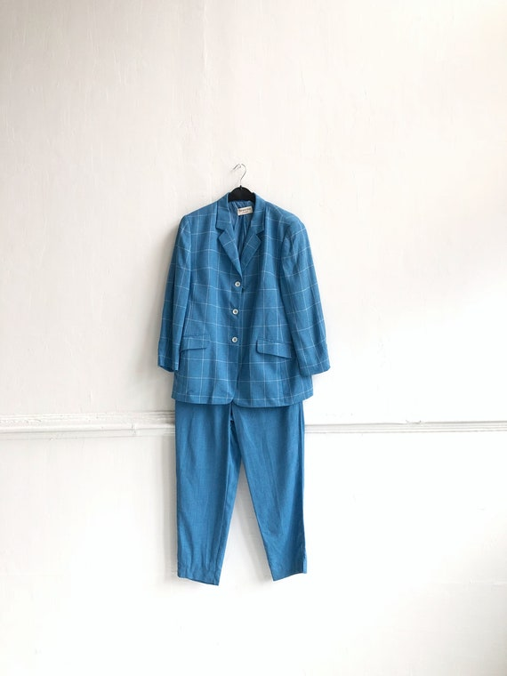 Vintage Pant Suit Women XL Trouser Suit Ladies Bl… - image 7