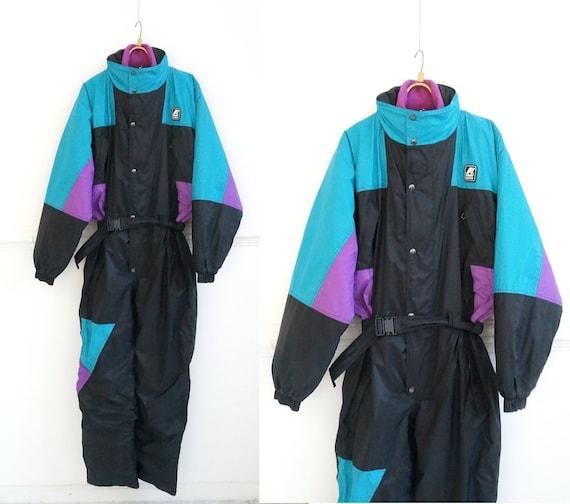 Vintage 90s Ski Suit Women One Piece Ski Suit Retr