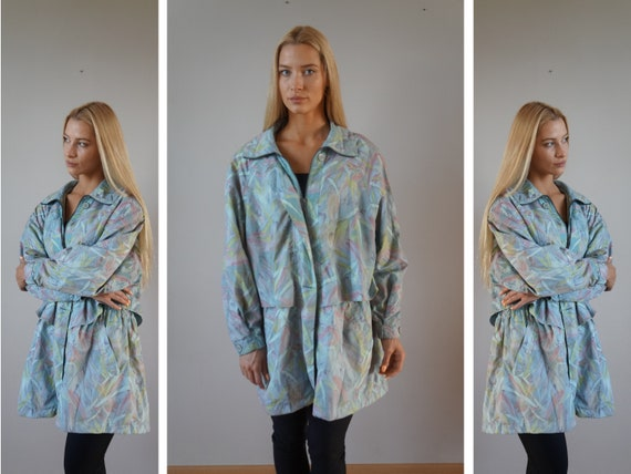 Vintage Windbreaker Colorful Pastel Womens Windbre