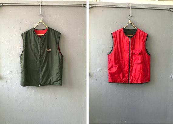 Vintage 90s Reversible Vest Mens Hunting Vest XL K
