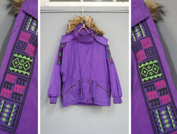 Vintage 90s Dubin Ski Jacket Womens Purple Ski Jac