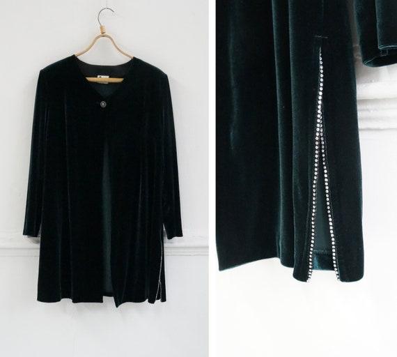 Vintage 90s Emerald Cardigan One Button Cardigan W