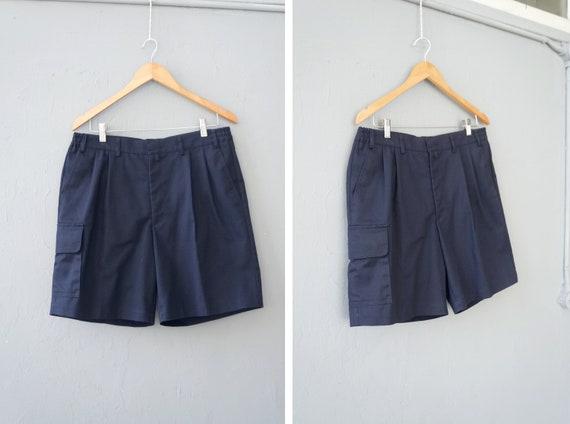 Vintage 90s Dark Blue Shorts Mens Blue Shorts W34