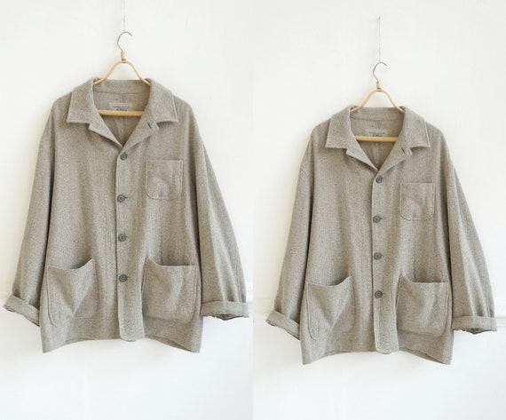 Vintage 90s Wool Shirt XL Beige Shirt Beige Wool J