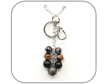 Speckled Labradorite Square Coin Bead Strand 109557