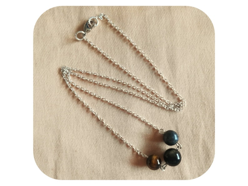 more than 15 stones to choose from Custom Creation Necklace with natural stones to customize