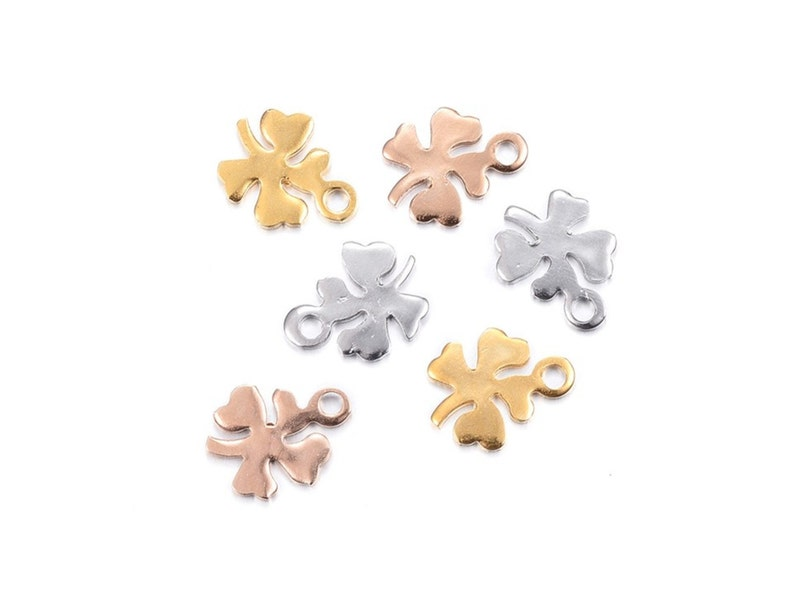 Stainless Steel Charm Silver Gold or Pink Gold for Bracelet for Women