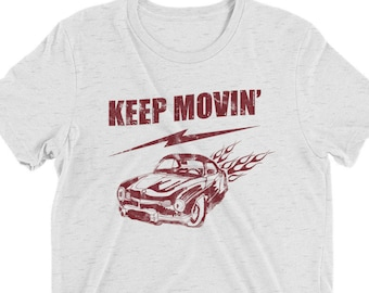 bc1ce1a1 Keep Movin' Vintage Style T-shirt-women's 70's inspired tee-vintage muscle  cars t shirt-los angeles traffic graphic t shirt