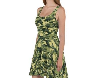 2ee91dbd8ed Women s Camo Skater Dress No. 2   camouflage sun dress   sleeveless army  military troops dress   hunting dress