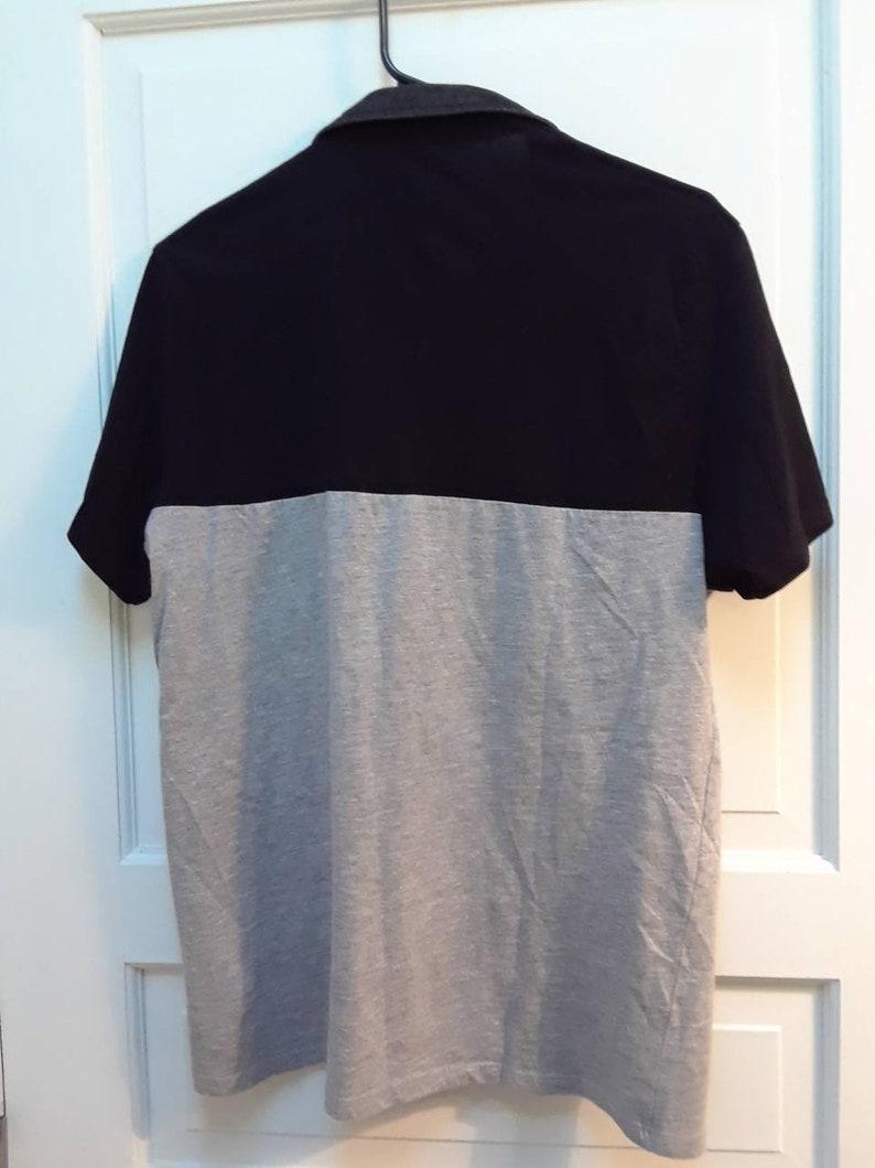 Black and Grey Unisex Designer Polo Shirt Men/'s Women/'s Unisex Large Small Medium Polo Shirts Guess Thin Lightweight Pocket Polo Shirt