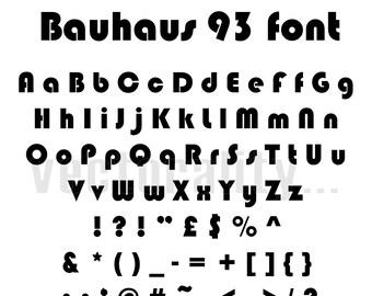 Bauhaus Font Etsy