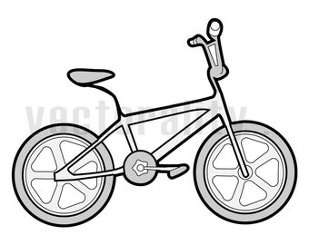 17a3bdedfa 1980 80s Eighties BMX Bike Bicycle Vector Art File Instant Download Ai    eps   svg   pdf   dxf   png   jpg Cut Print