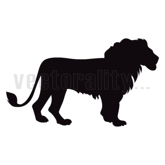 Lion Animal Silhouette King Jungle Outline Vector Art Instant Etsy Multiple sizes and related images are all free on clker.com. etsy
