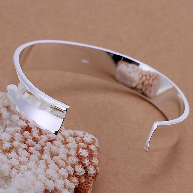 Bracelet Trendy Classic Metal Silver color for Baking Polymer clay Bracelets! Silver plated Bangle BASE Bracelet Cuff 6cm