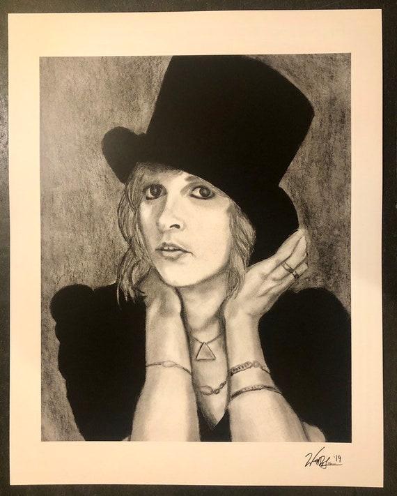 Stevie Nicks Top Hat Print
