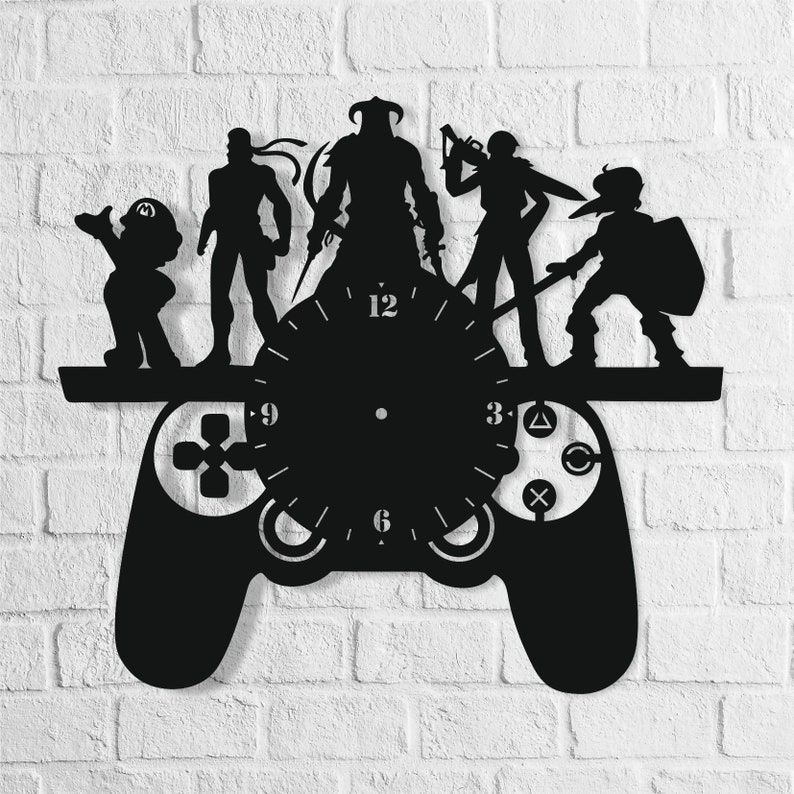 Game Pad Clock, Dxf Svg Cdr Files, Laser Cut Wall Clock, Clock Digital  File, Clock Cutting, Instant Download, Cnc Plans