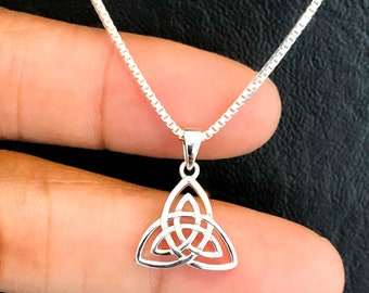 Sterling Silver Triquetra Heart Pendant-Celtic Necklace-Celtic Knot-Unisex Gift-Anniversary-Love-All Occasion Gift-Handcrafted Jewelry