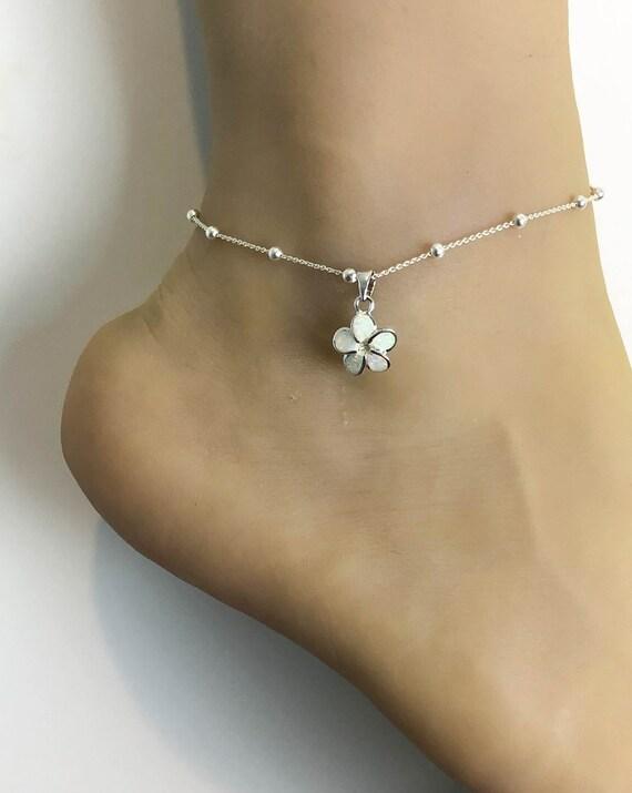 -Plumeria-SpringSummer Flower-Pastel Purple-Pearl Bracelet- Displays Not Included Sterling Silver .925-Adjustable- 7-8.5 inch