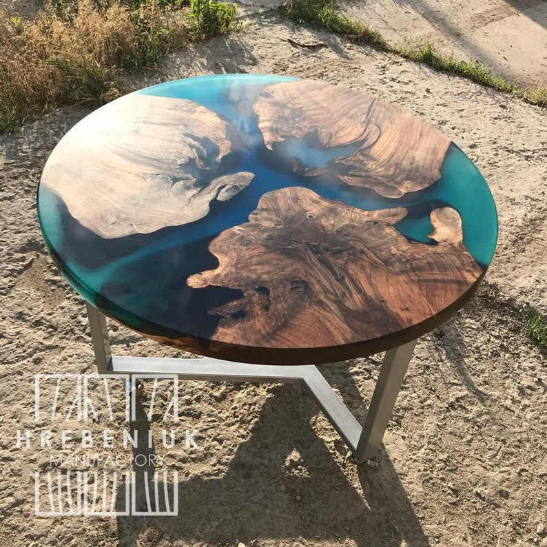 Small Epoxy Wood Table Top