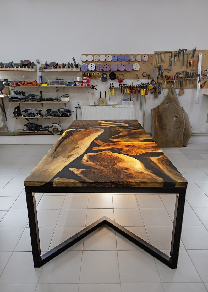 Large Tabletop Made With Epoxy