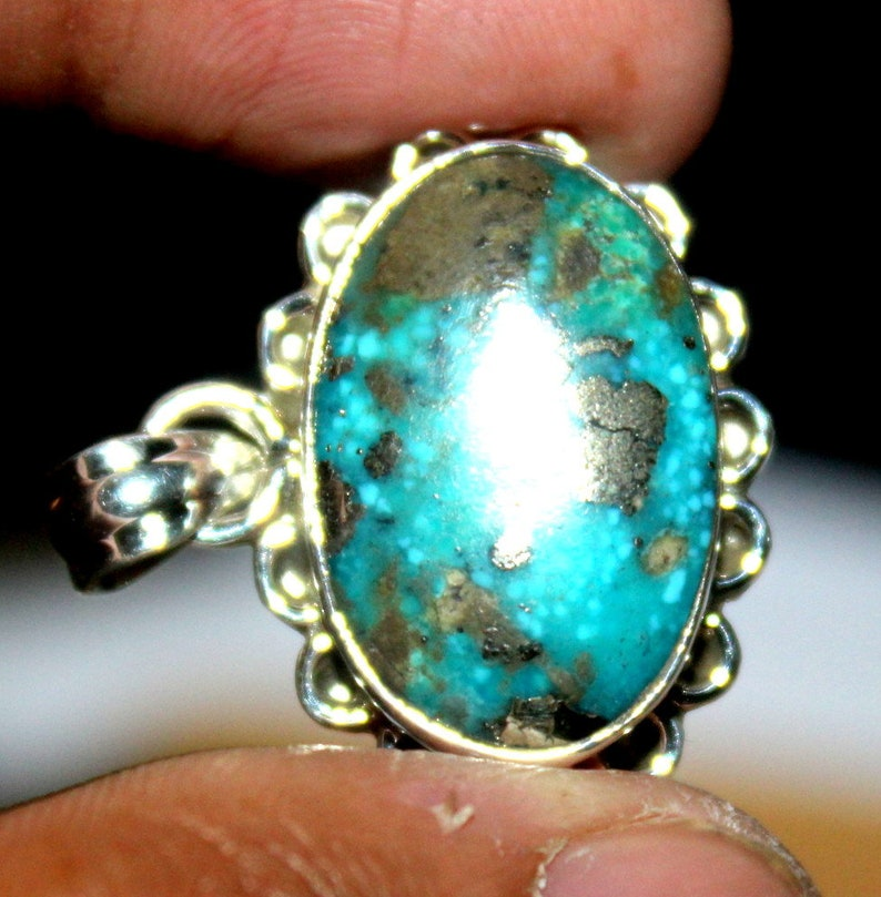 92.50 Silver Pendant Natural Turquoise Gemstone Turquoise Cabochon Loose Turquoise Silver Pendant Jewelry Gemstone Silver Jewelry