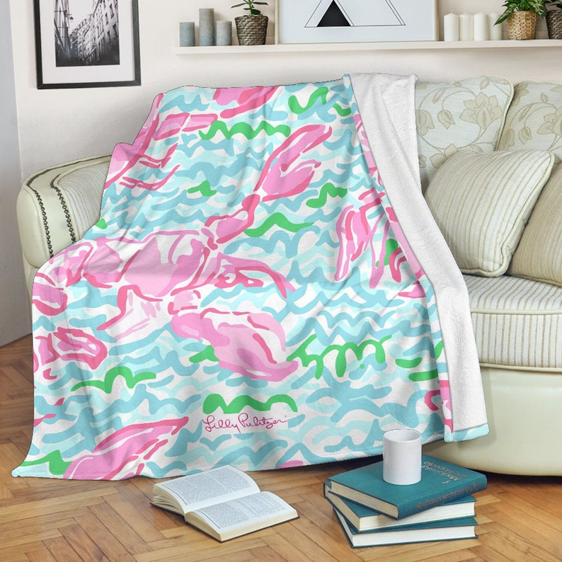 Nice Tail Lilly Pulitzer Pillow Cover Cushion Sofa Case Home Decor