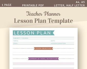 photograph regarding Printable Lesson Plans called Lesson developing Etsy