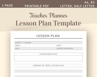 graphic about Lesson Plan Book Template Printable known as Lesson application guide Etsy