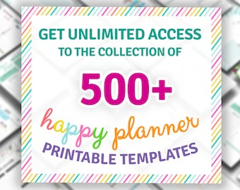 Happy Planner Templates Ultimate Collection, Printable Planner Set, Daily Weekly Monthly 2021 - 2022, Happy Planner Classic / Big / Mini