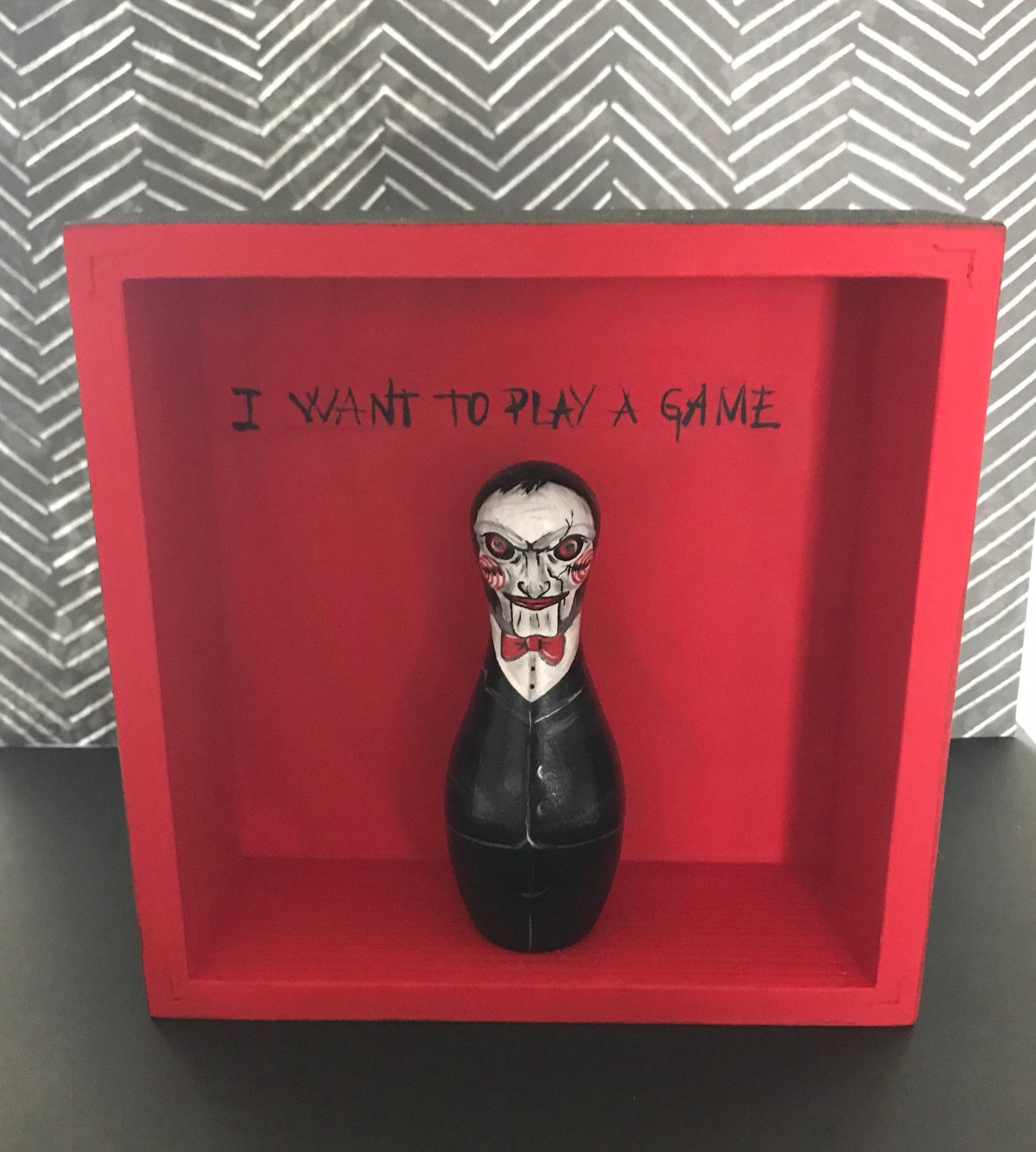 Jigsaw Saw movie peg doll
