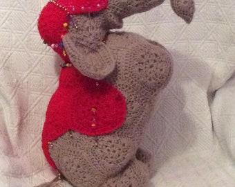 Como hacer un Elefante pequeño - Patrones gratis | 270x340