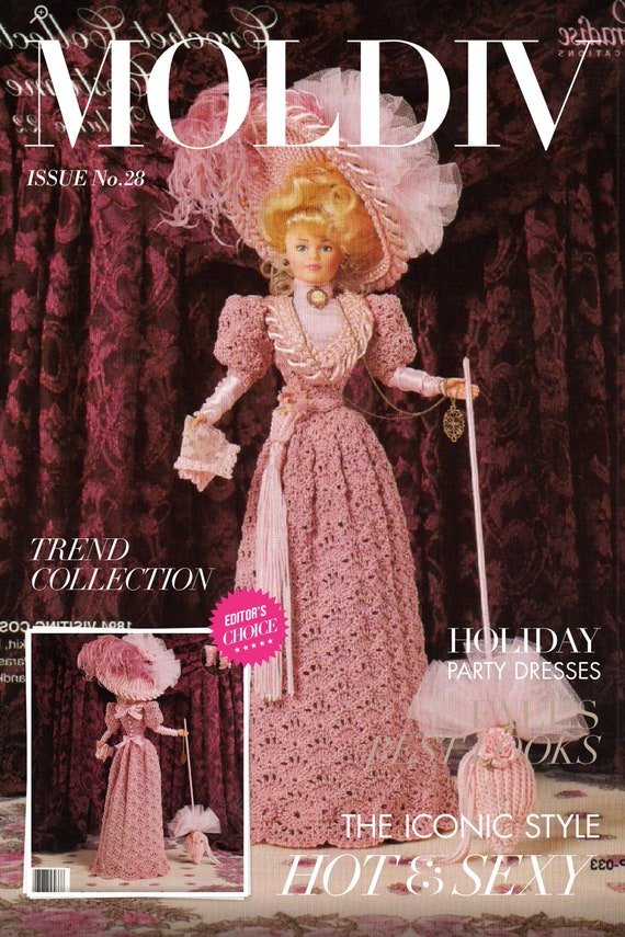 PDF English. pattern patterns dress and chic crochet accessories for Barbie English vintage magazine tutorials