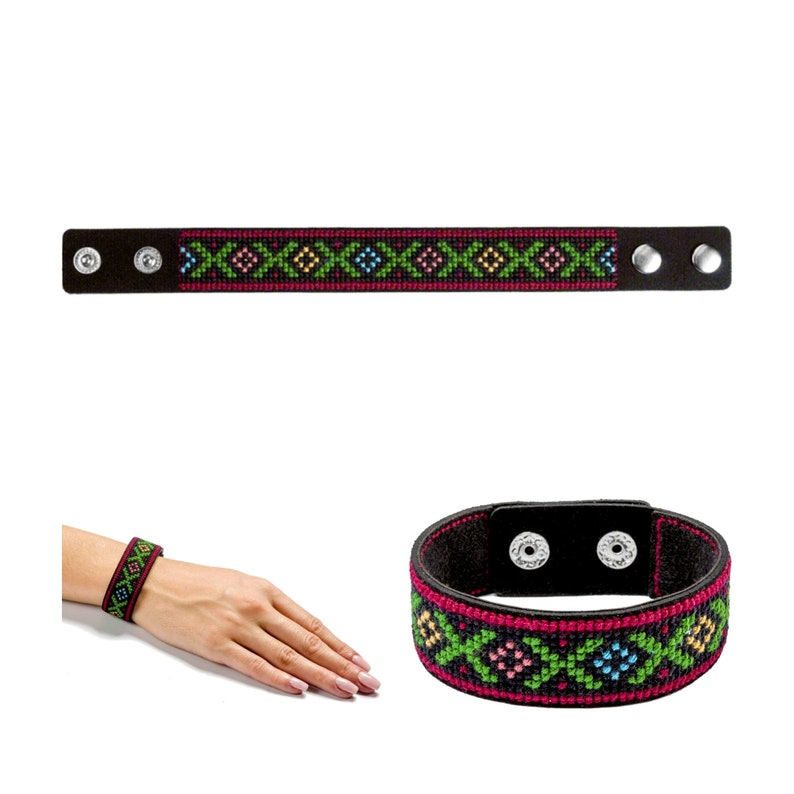 5 designs Bracelet with embroidery kit