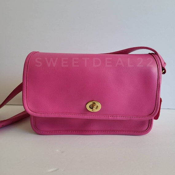 Custom Pink Vintage Coach Compartment Bag