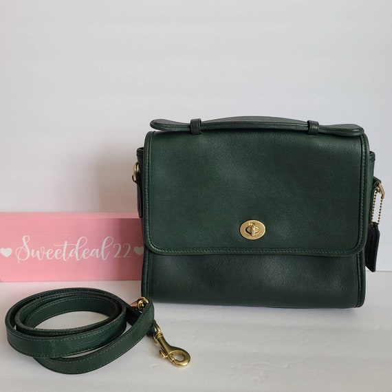 Vintage Coach Green Court Bag