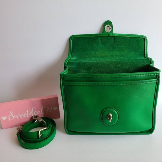 Custom Vintage Coach Green Willis Satchel - image 7