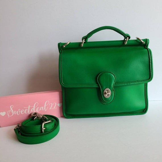 Custom Vintage Coach Green Willis Satchel - image 1