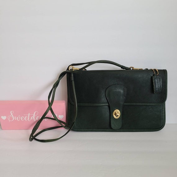 Vintage Coach Pre Creed Green Double Clutch