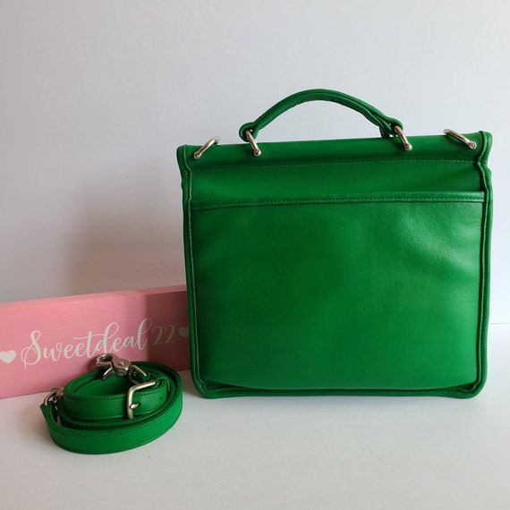 Custom Vintage Coach Green Willis Satchel - image 3