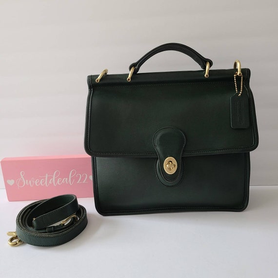 Vintage Coach Forest Green Willis Top Handle Satch