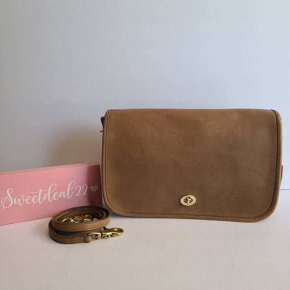 Vintage Coach Original NYC Taupe Putty Convertible