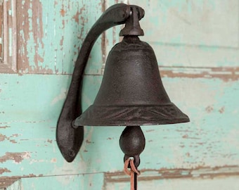 iYardArt DB-0911 Dinner Bell Old West Style Triangle w//Ringer Thong and PH-0801 Mounting Bracket