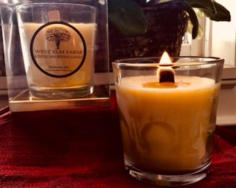 Pure Beeswax Scented in Glass Tumbler