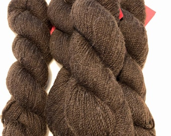 Brown Corriedale Wool Yarn