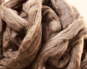 Chocolate Brown Merino Top Roving Sold by the Ounce