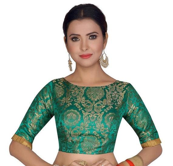 Multicolor Raw Art Silk Blouse New Indian Designer Readymade Blouse For Women Wedding,Party Wear Saree Choli Top Tunic Sari Blouse