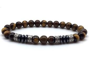 Bracelet * JAGAT * Tiger's Eye Hematite natural stone