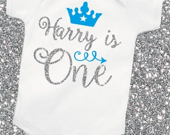 Personalised 1st First Birthday Gold Glitter Baby Girl vest//grow free P/&P
