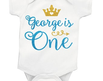03373a45336 Personalised 1st First Birthday Glitter Baby Boy vest grow free P P