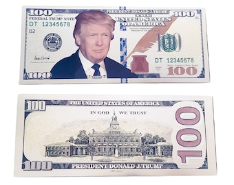 Trump Commander-in-Chief Novelty Dollar Bill comes in a Soft Polly Sleeve